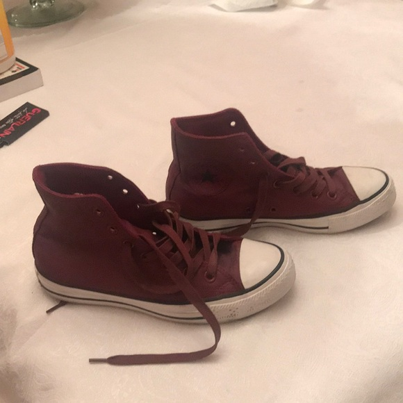 c1d37794b04324 Converse Shoes - Leather maroon chuck Taylor s